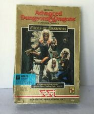 """SSI Advanced Dungeons & Dragons POOLS OF DARKNESS Game for PC 5 1/4"""" disks AD&D"""