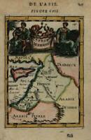 Syria Holy Land Cyprus 1683 Mallet lovely decorative miniature map hand color