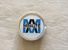 ONE GENUINE MINILITE SILVER CENTRE CAP FOR DAIHATSU COPEN OR SIMILAR MINILITE