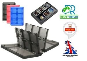 Game Case For Nintendo 3DS DS 2DS Games Cart & Memory Card Holder 24 In 1 - UK