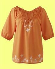 Maglie e camicie da donna camicetta arancione casual