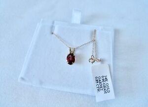 .85 Ct. Garnet Solitaire  14k Gold Pendant & Necklace