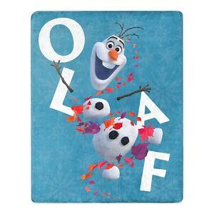 "Disney Frozen 2 Blue Olaf Silk Touch Throw Blanket, 40"" x 50"""