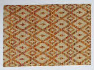 Ashikavin Woolen Carpet (Rust/Beige,5.3 X 7.6 FT)