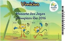 Pet Stamps block of Rio 2016 Olympic Games - Vinicius - 2 stamps