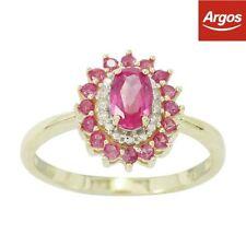 Diamond Anniversary Round Yellow Gold Fine Rings