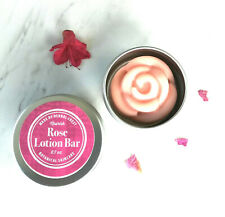 Rose Cocoa Solid Hard Lotion Bar Organic Shea Body Butter Skin Moisturizer Rub