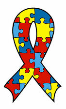 Lot 12 Autism Awareness Ribbon Puzzle Piece Temporary Tattoos-NEW-FREE SHIPPING