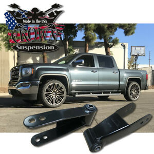 "Chevy Silverado 2"" Drop Shackles 1988 - 2018 Chevrolet GMC Lowering Kit Parts"