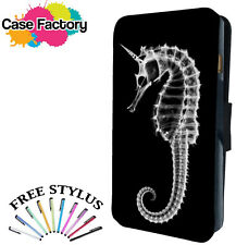 SEAHORSE FISH SKELETON NATURE - Leather Flip Wallet Phone Case Cover