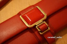 Vionnet Paris Red Lambskin Leather Baguette Handbag Purse Made in Italy New