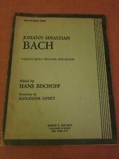 Johann Sebastian Bach Sheet Music Book 1946