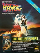 BACK TO THE FUTURE VIDEOCASSETTE 1986 promo ADVERT steven spielberg