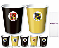 Coco&Bo 5 x Magical Wizarding Gold & Black Party Cups Harry Potter Theme Table