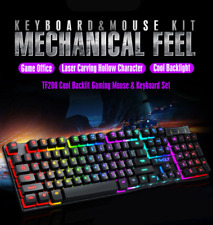 Gaming keyboard Mouse Wired with LED backlight Waterproof Computer Game Gamer