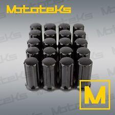 Set of Black Duplex Spline Lug Nuts M14x1.5 for Silverado 2500 3500 SRW 8 Lug
