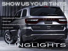 2014 2015 Dodge Durango Tinted Tail Lamp Light Overlay Kit Smoke Protection Film