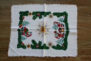 alte DDR Weihnachts-mittel-tischdecke Weihnachten,39 x 31 cm,Ostzone,vintage