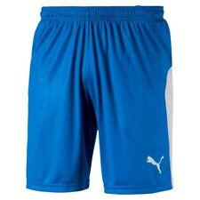 PUMA Liga Shorts Electric Blue Lemonade-white L