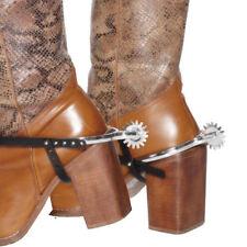 Stiefel Sporen silber, 2 Stk. Cowboykostüm Zubehör Karneval Fasching Sheriff