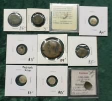 10 Coin Medieval & Ancient Lot, Some Silver, 10 Ancient & Middle Ages Coins
