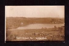 Postcard Lake Carey Birds Eye View Upper End Real Photo  Wyoming County PA