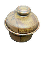 Iron Mountain Tennessee Stoneware Roan Sugar Bowl  Knob Lid,