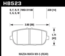 Hawk Disc Brake Pad HPS 5.0 Rear for Fiat 124 / Mazda MX-5 Miata # HB523B.539