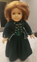 AMERICAN GIRL DOLL FELICITY RED HAIR GREEN EYES PLEASANT COMPANY GREEN RIDING