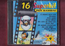 16 SUPERHIT PER BAMBINI VOL.4 cover version CD NUOVO SIGILLATO