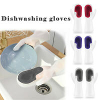 Silicone Dish Washing Gloves Wash Brush Scrubber Kitchen Bathroom Home Cleaning