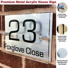 Floating House Signs Plaques Door Numbers 1 - 999 Personalised Name Plate