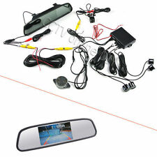 "3 in 1 4.3"" Car Mirror Monitor+ HD CCD rear view Camera+ Parking Sensors System"