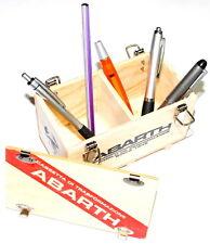 Abarth Lápiz De Escritorio/madera sostenedor de la pluma Abarth Cajón Diseño Nuevo Genuino 59230778