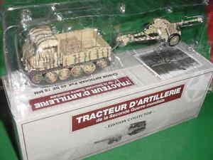 TRACTEUR RAUPENSCHLEPPER OST CANON ANTICHAR PaK 40 de 75 mm MILITAIRE 1/43 IXO