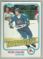 Peter Stastny Quebec Nordiques 1981-82 Topps RC