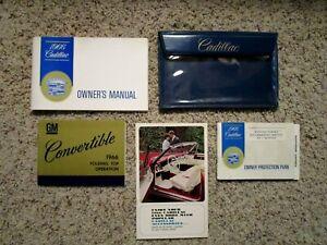 1966 Cadillac DeVille Convertible Factory GM Original Owners Manual Set Mint