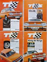 Reklame Nr.12) AUDI NSU TT S 1970 / 4 x Anzeige Werbung / 4 x print ad advert