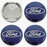 4xFord 54mm Blue Alloy Wheels Centre Caps Fit S-Max & Galaxy Mondeo B-Max Focus