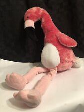 """Fiesta FLAMINGO PROMO Hot Pink Plush Stuffed Animal Bird Floppy Toy White 18"""""""