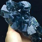 469g+Transparent+Deep+Blue+Cubic+Fluorite+Crystal+Cluster+Mineral+Specimen%2FChina