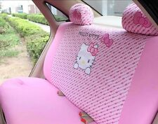 NEW 2017 4Pcs Light Pink Hello Kitty Car Seat Cover Back Interior Accessories