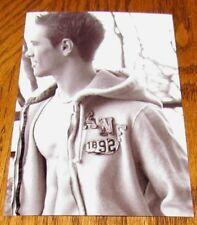 Shirtless Male Frat Guy Jock Wearing Open Hoodie Abs Pecs Cute PHOTO 4X6 N387