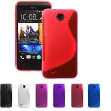 2 X NEW HTC DESIRE 300 GEL CASE + FREE SCREEN PROTECTOR