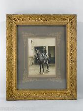 PHOTOGRAPHIE ANCIENNE ENCADREE, cheval, militaire, 99ème régiment de cavalerie