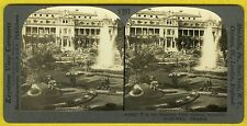 """GERMANY """"PALM GARDEN/FOUNTAINS"""" FRANKFORT-On-The-Main~OLD 1920s~PHOTO STEREOVIEW"""