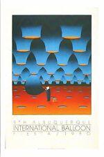 """4""""x6"""" Postcard Poster card 9th Albuquerque Balloon Fiesta 1980 ABQ Hot Air Repro"""