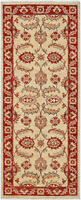 2X6 Hand-Knotted Oushak Carpet Traditional Red Fine Wool Runner Rug D43792