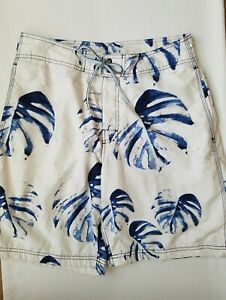 Nautica Mens Size 30 Waist Swim Shorts Trunks Bathing Suit Banana Leaf Tropical