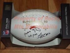 Broncos BENNIE FOWLER Signed SB50 Champs Football - SB 50 Champion - w/ Insc.